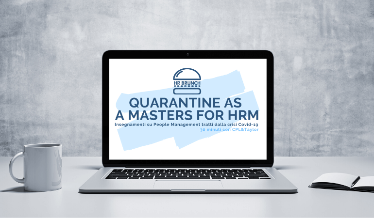 QUARANTINE AS A MASTERS FOR HRM